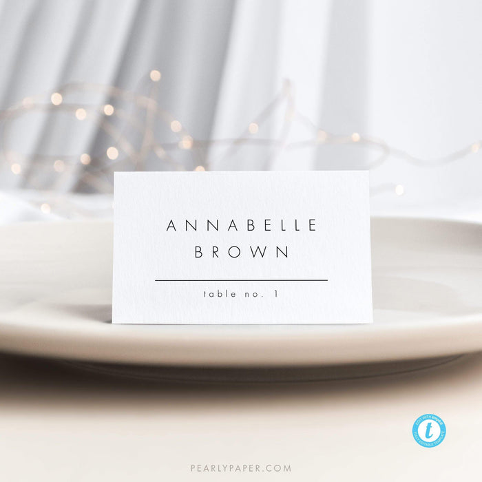 Modern Place card Template - Pearly Paper