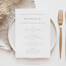 Load image into Gallery viewer, Personalized Wedding Menu Place Cards - Pearly Paper