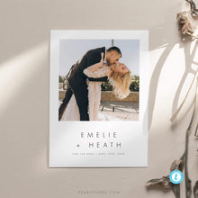 Load image into Gallery viewer, Minimalist Elopement Announcement - Pearly Paper