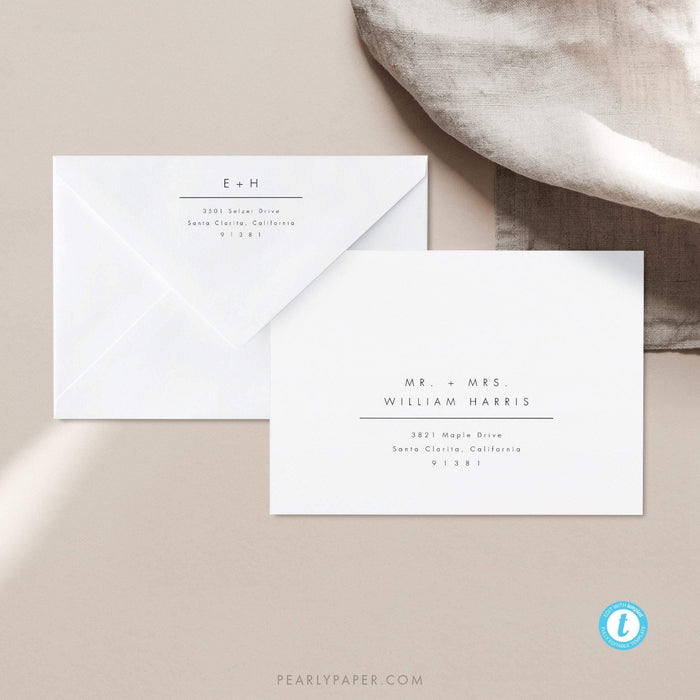 Minimalist Envelope Template - Pearly Paper
