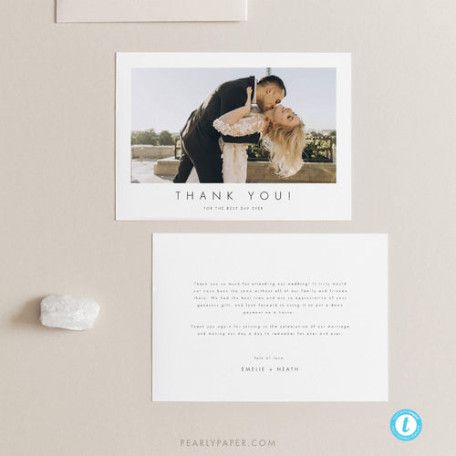 Modern Thank You Card - Pearly Paper