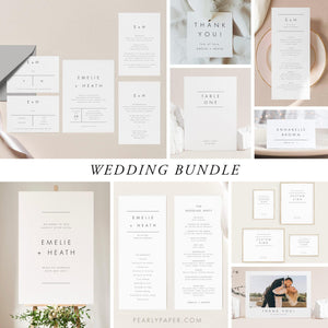 Modern Wedding Bundle - Pearly Paper