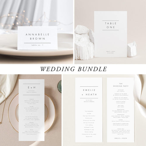 Modern Wedding Bundle Download - Pearly Paper