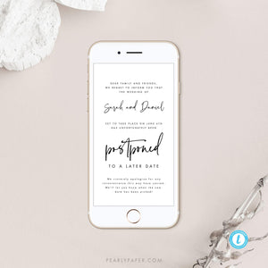 Digital Postponed Wedding Template - Pearly Paper