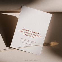 Load image into Gallery viewer, Desert Terracotta Wedding Invitation Set - Pearly Paper