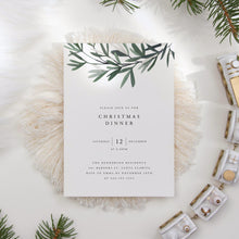 Load image into Gallery viewer, Christmas Dinner Invite - Pearly Paper