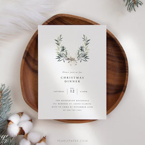Christmas Dinner Invite - Pearly Paper