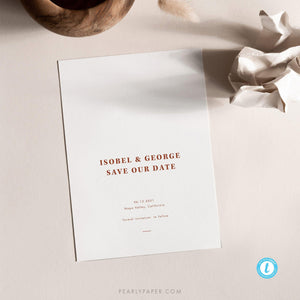 Desert Chic Save the Date Template - Pearly Paper