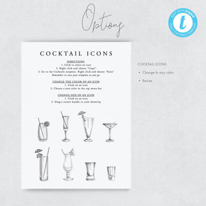 Minimalist Signature Cocktail Sign - Pearly Paper