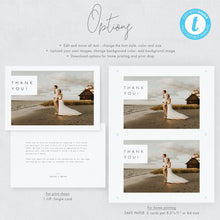 Load image into Gallery viewer, Minimalist Thank You Photo Card - Pearly Paper