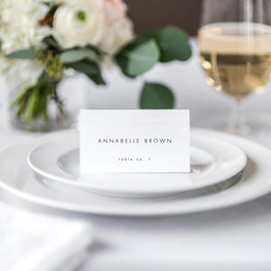 Minimalist Place Cards Escort Cards - Pearly Paper