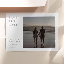 Load image into Gallery viewer, Classic Photo Save the Date Template - Pearly Paper