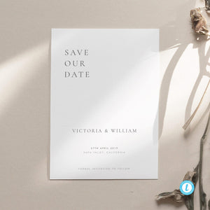 Classic Save the Date Template - Pearly Paper