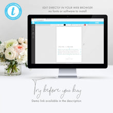 Load image into Gallery viewer, Minimalist Wedding Invitation - Pearly Paper