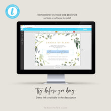 Load image into Gallery viewer, Greenery Postponed Wedding Template - Pearly Paper