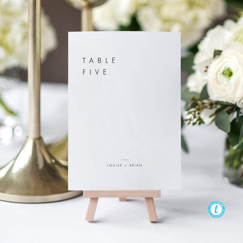Minimalist Table Numbers - Pearly Paper