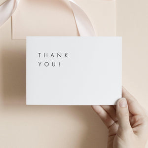 Minimalist Thank You Note - Pearly Paper