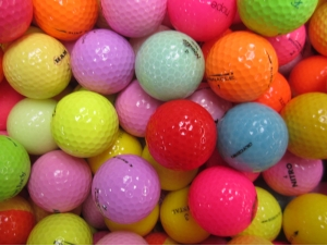 Color Mixed Brands Golf Balls #1  (Per Dozen)