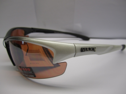 Maxx HD Golf Domain-White w/Smoke Polarized Lense