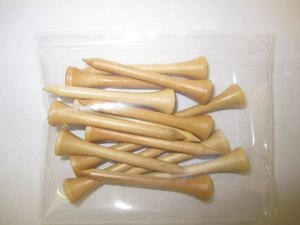"2 3/4"" Natural: 10,000 Count-15 Tees Per Bag"