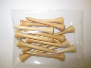 "2 1/8"" Natural: 10,000 Count-15 Tees Per Bag"