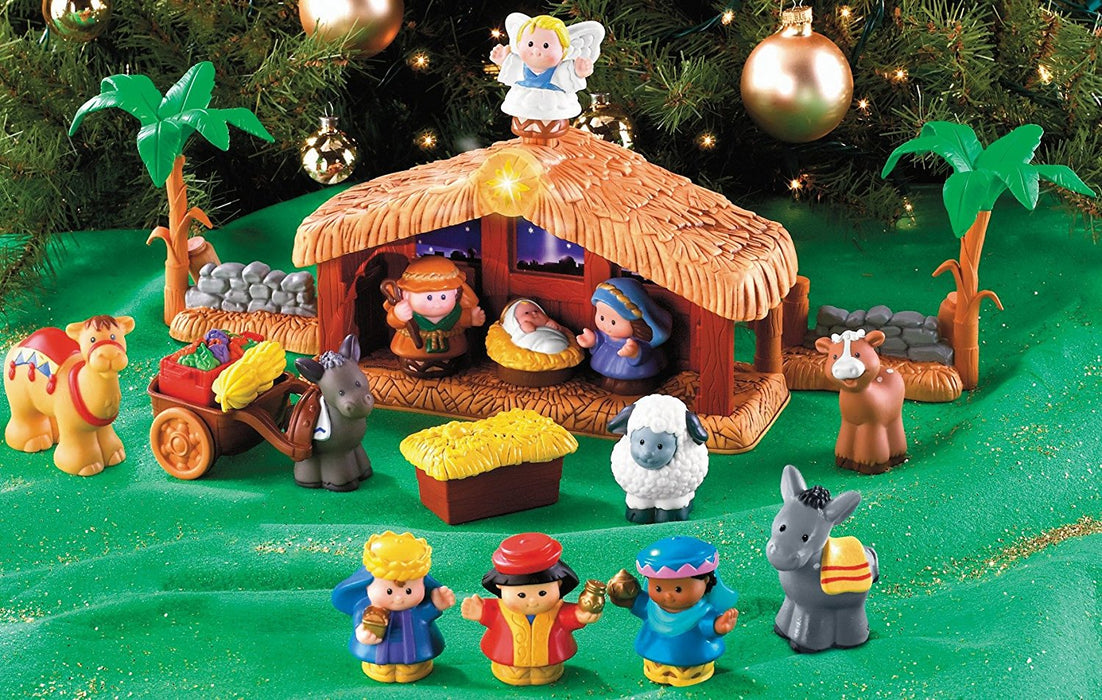 Fisher Price J2404 Christmas Crib Little People A Christmas Story Various Colours