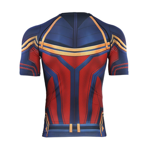 CAPTAIN MARVEL Gym T Shirt