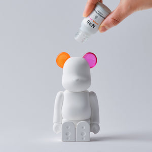 BE@RBRICK AROMA ORNAMENT No.0 COLOR W-DOUBLE- ORANGE PINK