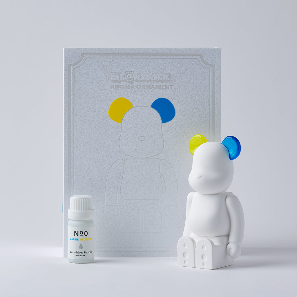 BE@RBRICK AROMA ORNAMENT No.0 COLOR W-DOUBLE- YELLOW BLUE