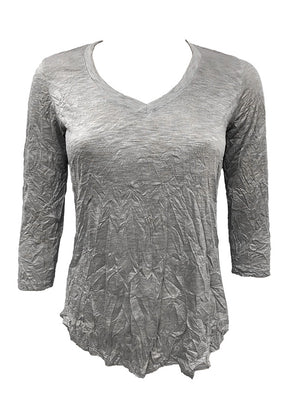 Crushed 3/4 Grey V-Neck