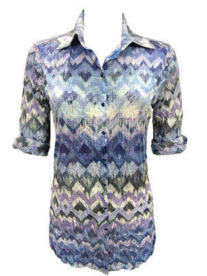 Crushed Azure Tunic Shirt
