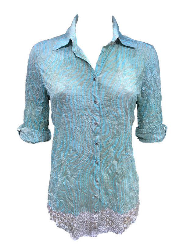 Crushed Bamboo Tunic Shirt