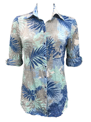 Crushed Fern Tunic Shirt