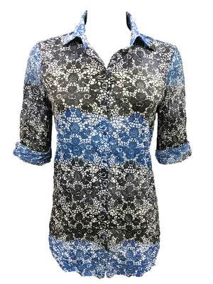Crushed Lace Tunic Shirt