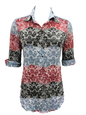 Crushed Ruby Tunic Shirt