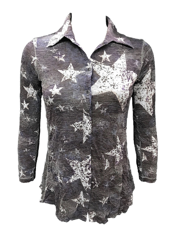 Crushed Long Sleeve Moon Shirt