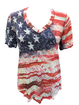 Crushed Flag V-Neck