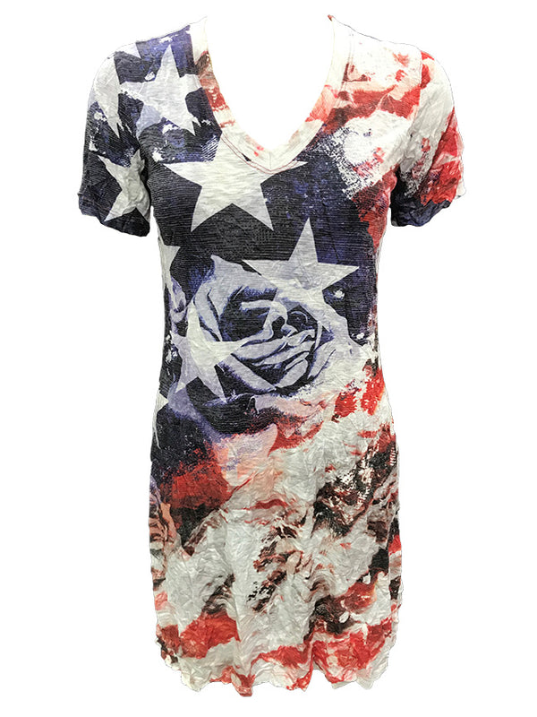 Crushed Freedom V-Neck Dress