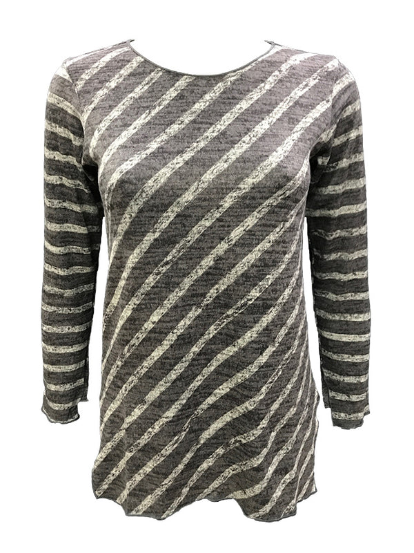 Long Sleeve Steel Scoop Neck