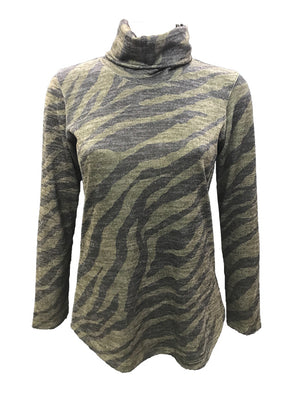 Long Sleeve Loden Hacci Turtle Neck