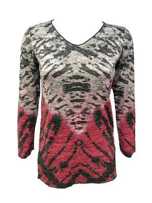 Merrow Edge Fire Hacci V-Neck