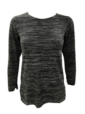 Merrow Edge Black Hacci Crew Neck