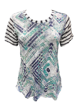 Crushed Short Sleeve Tile Tee