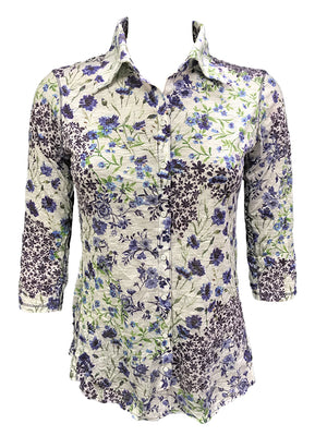 Crushed 3/4 Sleeve Garden Shirt
