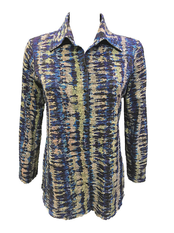 Long Sleeve Cobalt Hacci Shirt