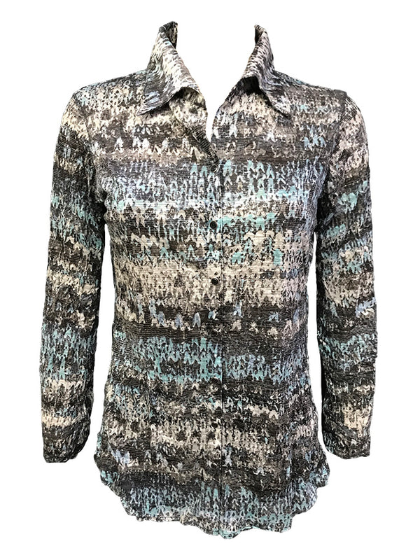 Crushed Long Sleeve Mist Shirt