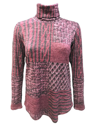 Long Sleeve Merlot Hacci Turtleneck