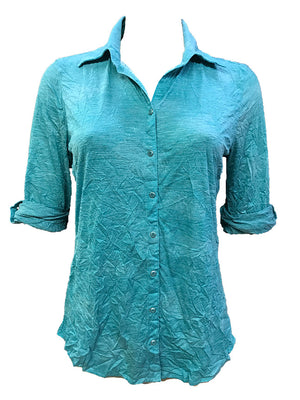 Crushed Aqua Shirt