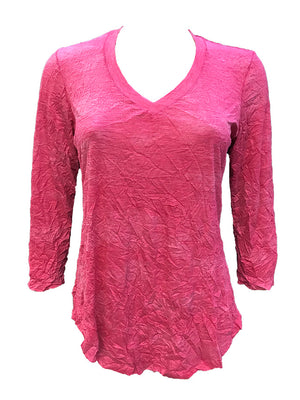 Crushed 3/4 Sleeve Reef V-Neck