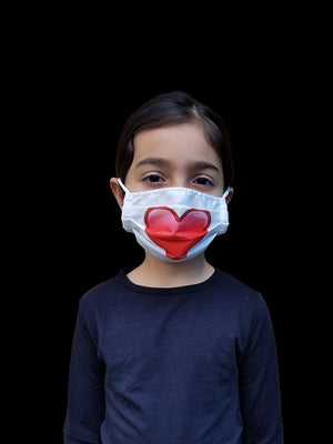 Kids Heart Face Mask